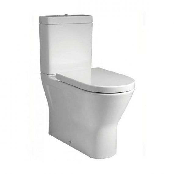 RAK Resort Mini Close Coupled BTW Rimless Toilet WC Pack Inc Soft close Seat