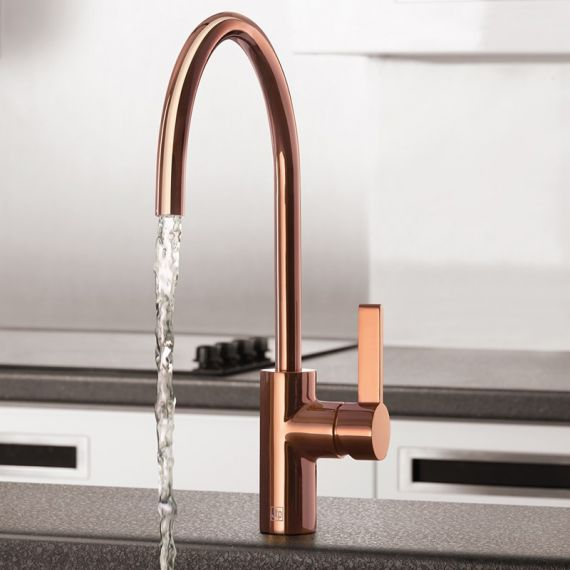 RG181 Rose Gold Lever Kitchen Sink Mixer Tap