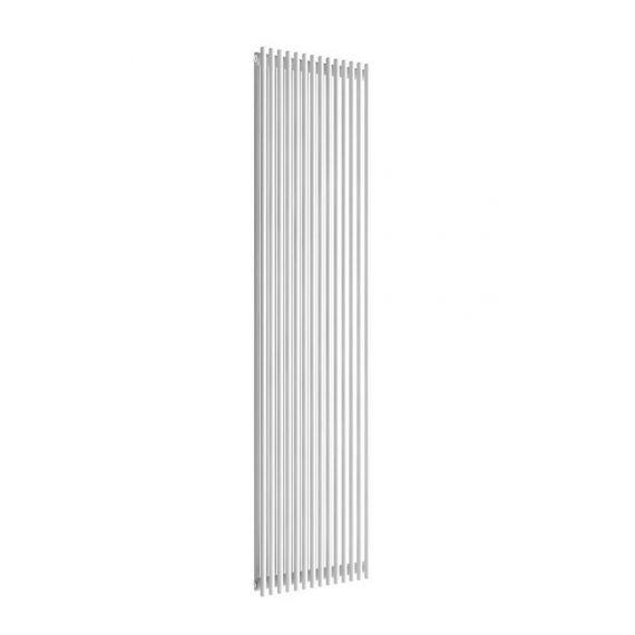 Reina Tubes Double Panel White Vertical Designer Radiator 1800 x 350mm