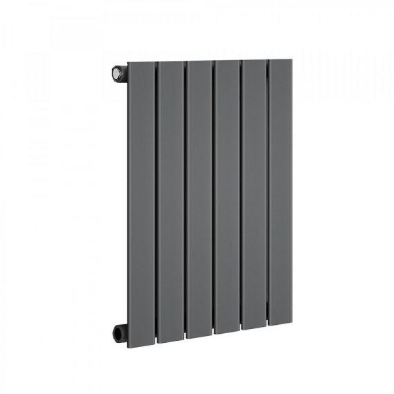 Reina Flat Single Panel Anthracite Radiator 600 x 810mm