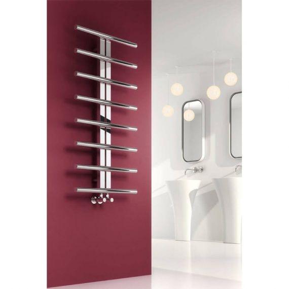 Reina Riesi Polished 1200 x 600mm Designer Heated Towel Rail