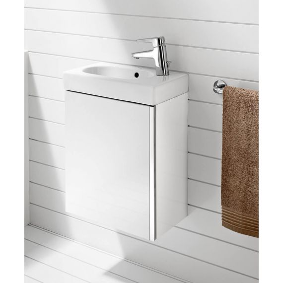Roca Mini 450mm Basin Unit with Basin Gloss White 855873806