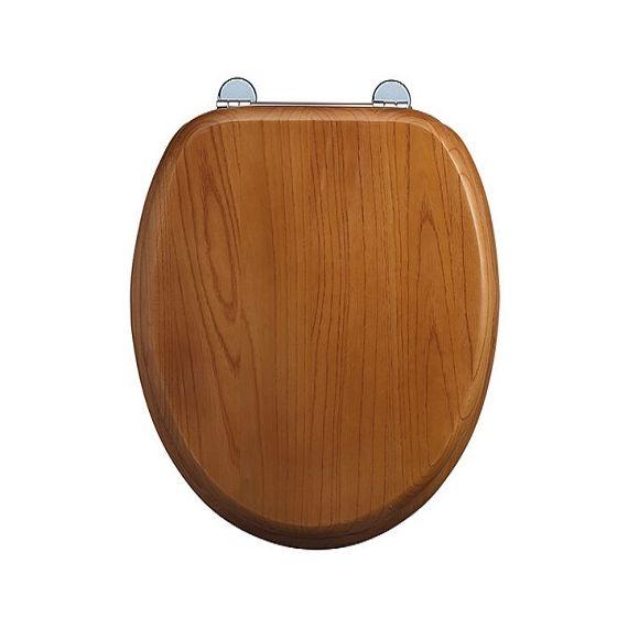 Burlington Soft Close Seat and Cover Golden Oak