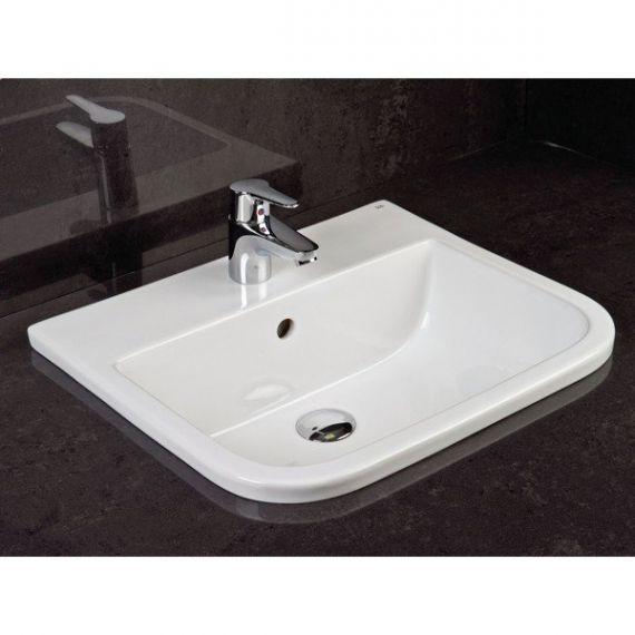 RAK Series 600 1 Tap Hole Inset Vanity Basin 500mm S600VB1