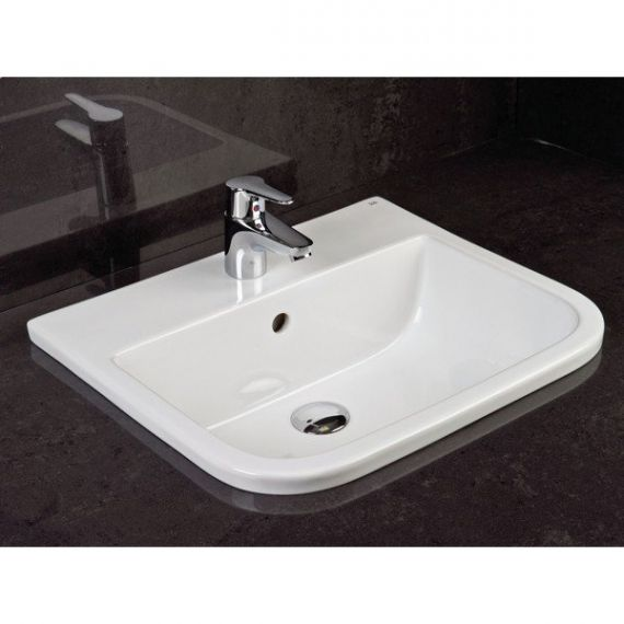 RAK Series 600 2 Tap Hole Inset Vanity Basin 500mm S600VB2