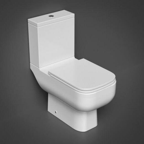 RAK-Series 600 Close Coupled Open Back WC Pan, Cistern and Slim Sandwich Soft Close Seat