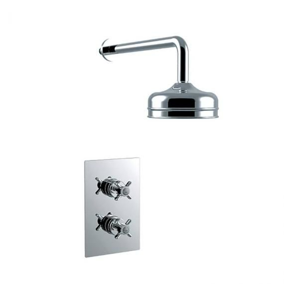 Heritage Dawlish Concealed Valve with 6 Fixed Head Chrome SDCDUAL02