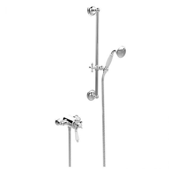 Heritage Dawlish Exposed Shower with Premium Flexible Riser Kit Chrome SDCDUAL09