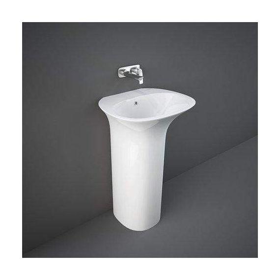 RAK Sensation Free Standing Wash Basin - No tap hole - Alpine White