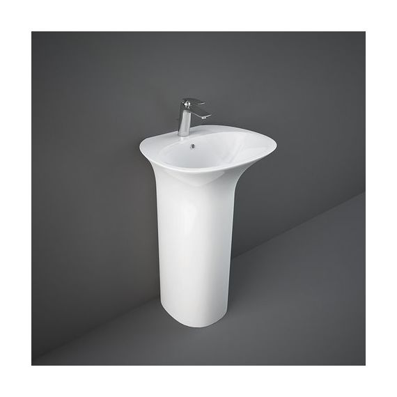 RAK Sensation Free Standing Wash Basin - One tap hole - Alpine White