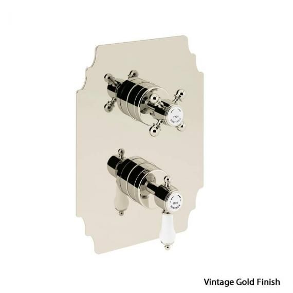 Heritage Glastonbury Recessed Thermostatic Shower ValveVintage Gold SGA03