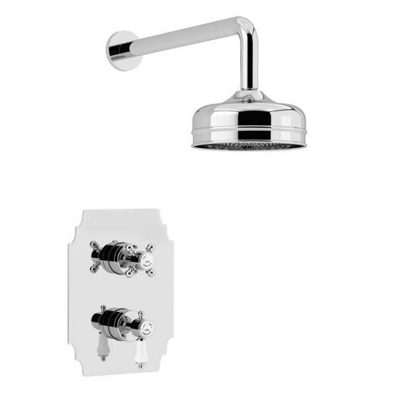 Heritage Glastonbury Recessed Shower with Premium Fixed Head Kit Chrome SGDUAL01