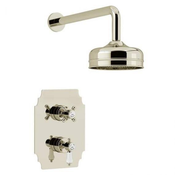 Heritage Glastonbury Recessed Shower with Premium Fixed Head Kit Vintage Gold SGDUAL02