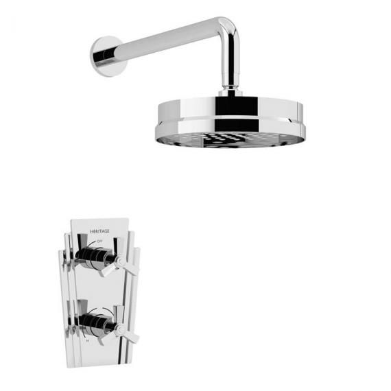 Heritage Gracechurch Recessed Shower with Deluxe Fixed Head Kit Chrome SGRDDUAL02