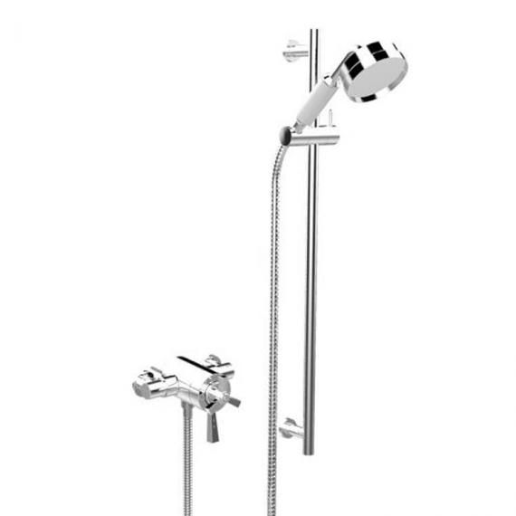 Heritage Gracechurch Exposed Shower with Deluxe Flexible Riser Kit Chrome SGRDDUAL05
