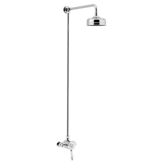 Heritage Glastonbury Exposed Shower with Premium Fixed Riser Kit Chrome SGSIN03