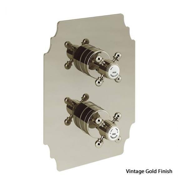 Heritage Hartlebury Recessed Thermostatic Shower Valve Vintage Gold SHDA02