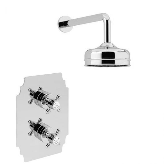 Heritage Hartlebury Recessed Shower with Premium Fixed Head Kit Chrome SHDDUAL03