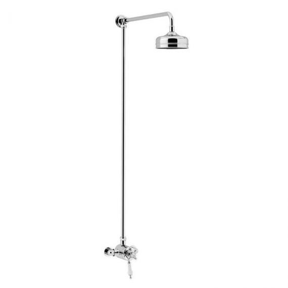 Heritage Hartlebury Exposed Shower with Premium Fixed Riser Kit Chrome SHDDUAL07