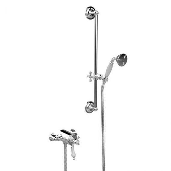 Heritage Hartlebury Exposed Shower with Premium Flexible Riser Kit Chrome SHDDUAL09