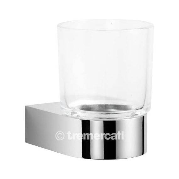 Tre Mercati Letto Glass Holder Chrome 3102