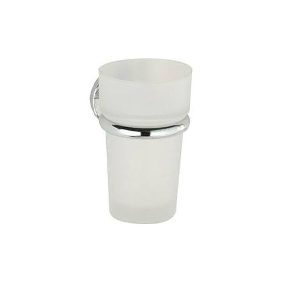 Roper Rhodes Minima Frosted Glass Tumbler and Holder