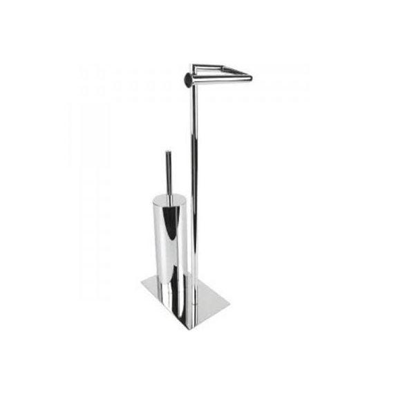 Miller Classic Freestanding Toilet Roll Holder and Brush