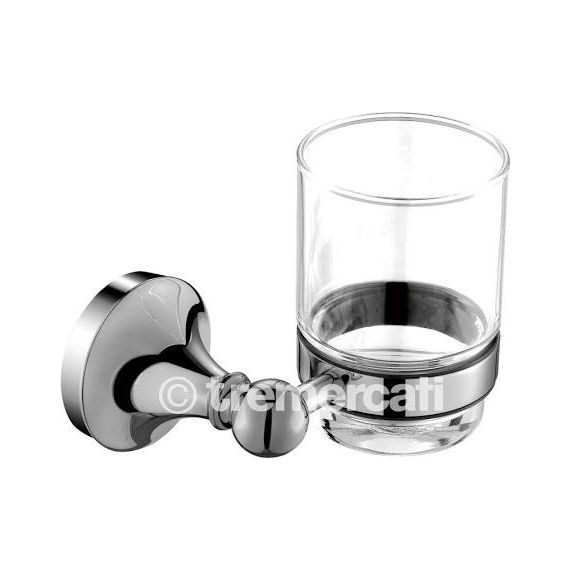 Tre Mercati Imperial Glass Holder Chrome 3702