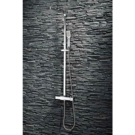 Square Thermostatic Shower And Diverter