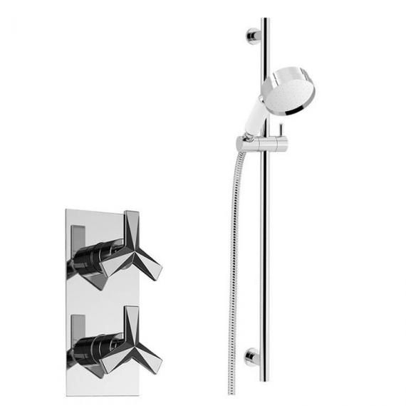 Heritage Hemsby Recessed Shower with Deluxe Flexible Riser Kit SHPDUAL01