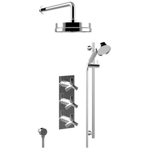 Heritage Hemsby Recessed Thermostatic Chrome Valve with Fixed Head and Kit SHPDUAL03