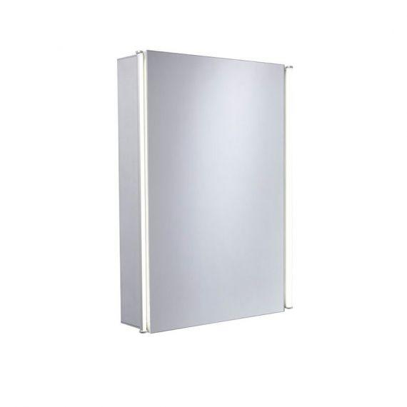 Tavistock Sleek Single Door Mirror LED Cabinet (Aluminium) SL44AL