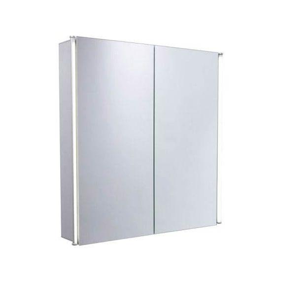 Tavistock Sleek Double Door Mirror LED Cabinet (Aluminium) SL60AL