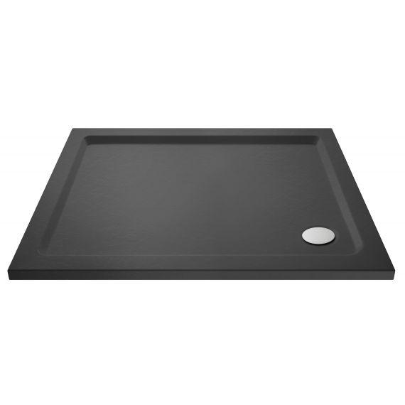 Nuie Slate Grey Rectangular Shower Tray 1000 x 800mm