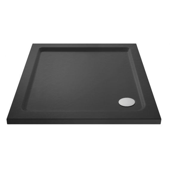 Nuie Slate Grey Square Shower Tray 760 x 760mm