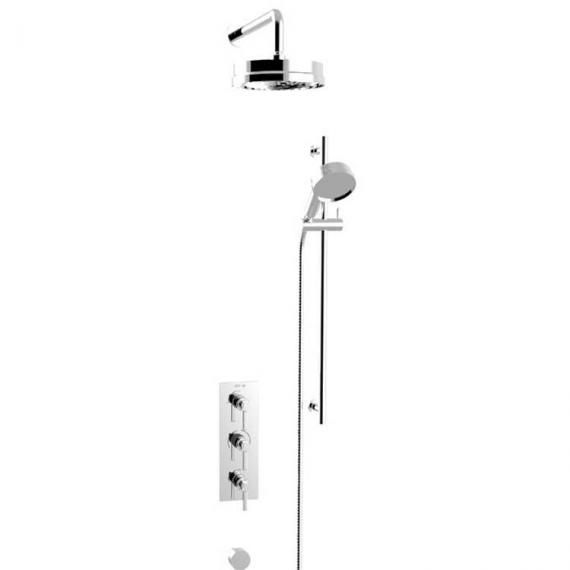 Heritage Somersby Shower Valve With Deluxe Fixed Head & Flexible Kit SSOBDUAL03