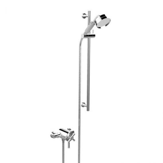 Heritage Somersby Exposed Shower with Deluxe Flexible Riser Kit Chrome SSOBDUAL05