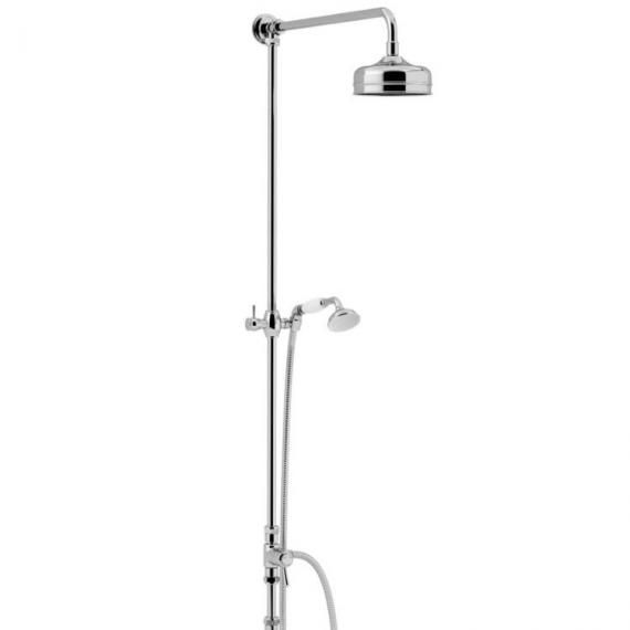 Heritage Fixed Chrome Rigid Riser with Rose and Handset Kit STC15