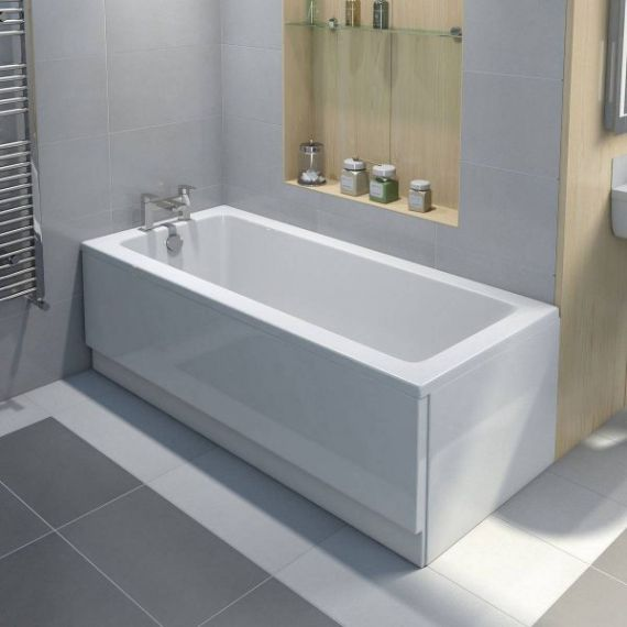 Supastyle 1700mm Acrylic Front Bath Panel White F05711