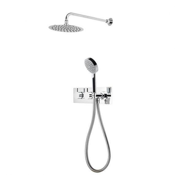 Roper Rhodes Event Round Dual Shower System with Fixed Shower Head SVSET70