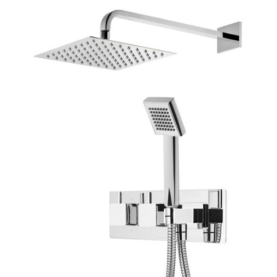 Roper Rhodes Event Square Dual Shower System with Fixed Shower Head SVSET73