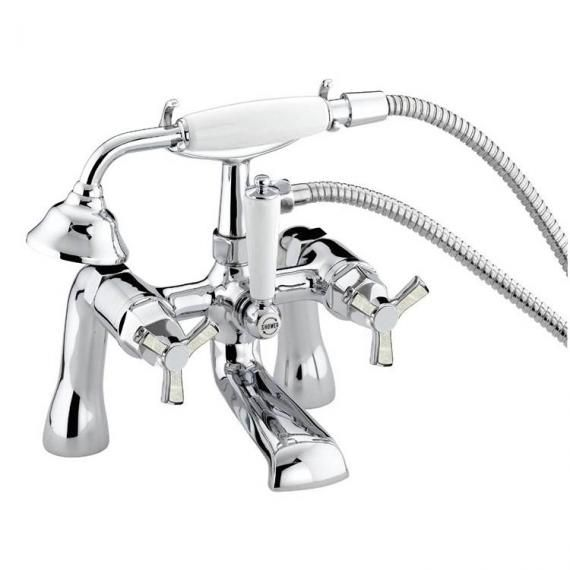 Heritage Gracechurch Bath Shower Mixer Tap with Mother of Pearl Handles