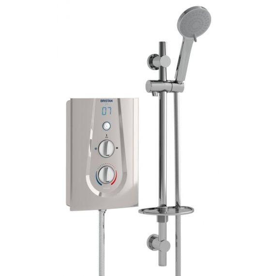 Bristan Joy 8.5kW Electric Shower Metallic Silver JOYT385 MS
