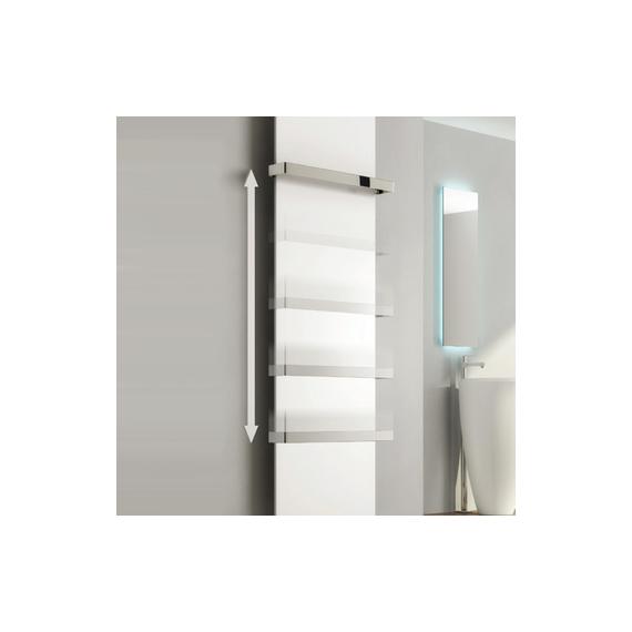 Reina Albi Chrome 530mm Towel Bar for Designer Radiators
