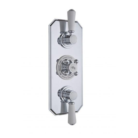Hudson Reed White Topaz Triple Thermostatic Shower Valve
