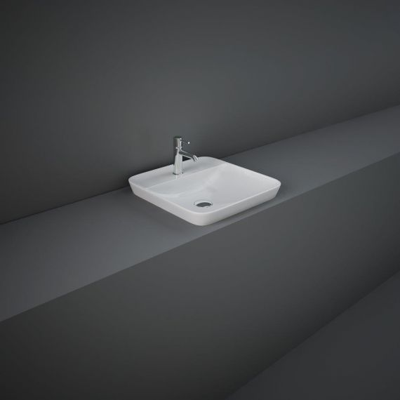 RAK-Variant Square Drop-In Wash Basin 42cm 1TH with Tap Ledge