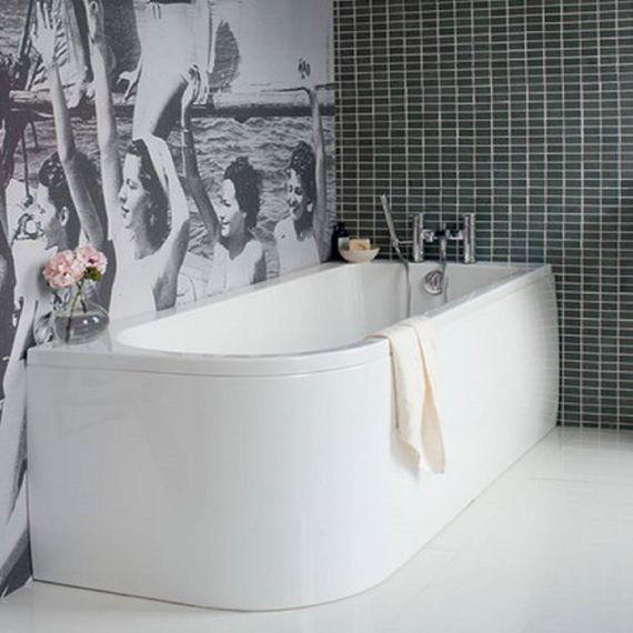 Cleargreen Viride 1700mm Offset Bath