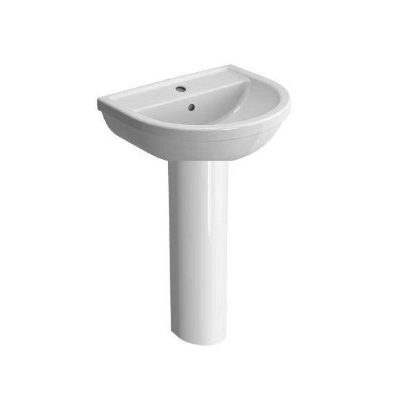 Vitra Milton 55cm 1Th Basin and Full Pedestal