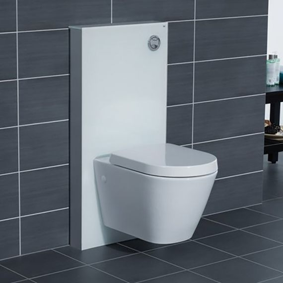 RAK Obelisk Glass Cabinet Cistern Frame for Wall Hung Toilets Alpine White