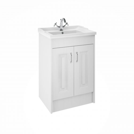 York White Ash 600mm 2 Door Basin and cabinet
